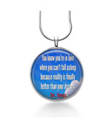 Love necklace - Dr. Seuss quote- you're in love, Anniversary Gift, gift ... - $18.32
