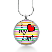 Aunt Pendant Necklace, Family Pendant, Love my Aunt necklace - fashion j... - $18.32