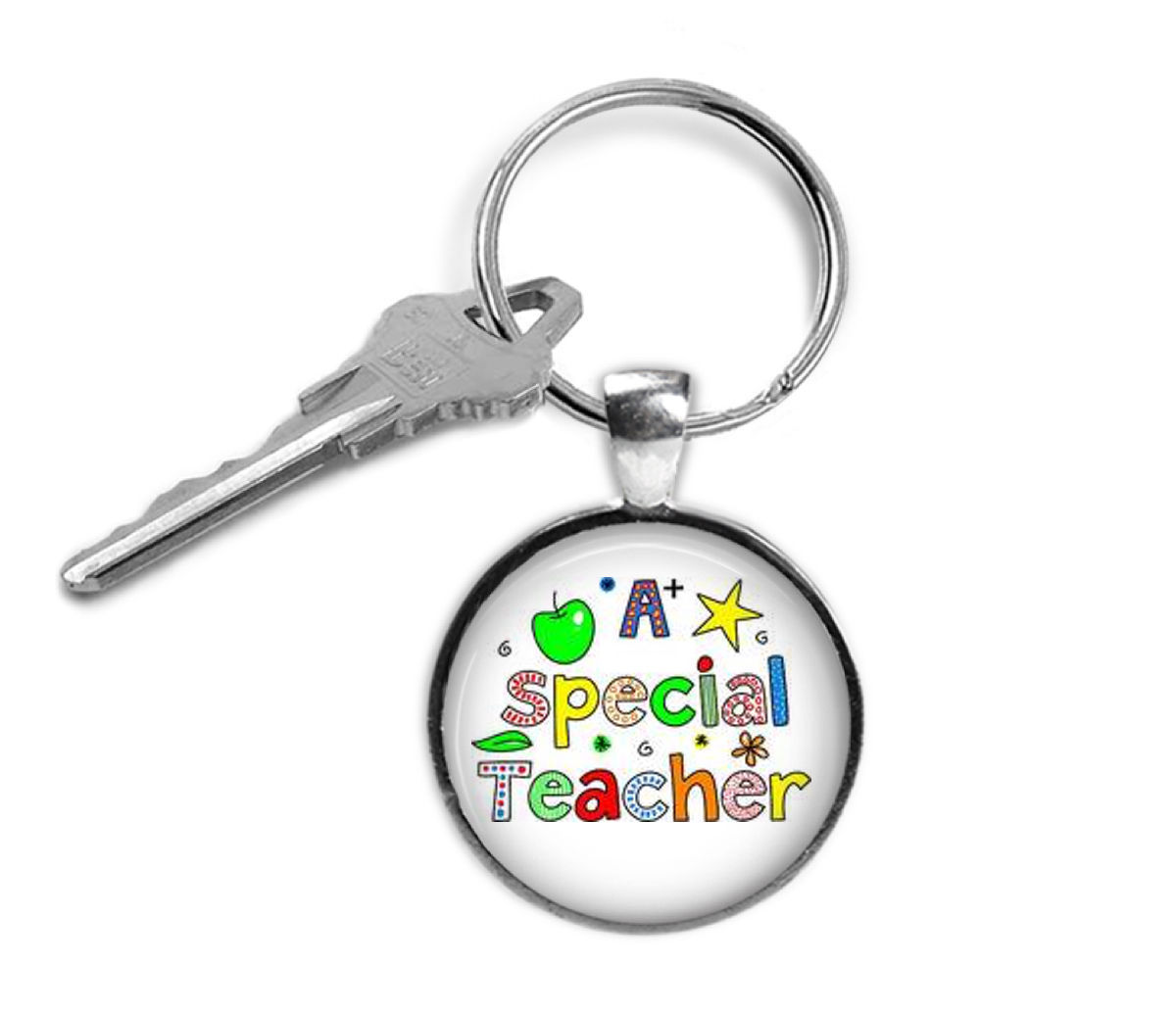 Primary image for Teacher keyring- gifts for teachers,Teacher keychain, teacher appreciation,teach
