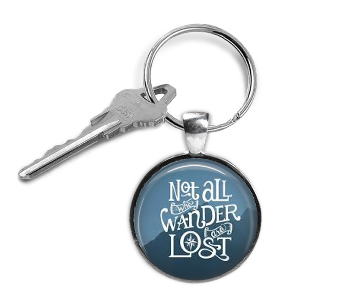 Quote keyring -Not all that Wander - Graduation gift - Christmas gifts for him - $18.32