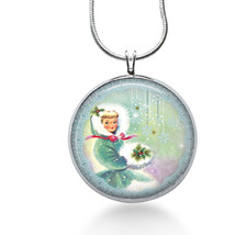 Winter Charm Necklace, Christmas Pendant, Holiday Charm, Pendant Necklace - $18.32