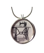 Sewing Machine Necklace-Retro pendant,kitschy,kitsch jewelry,retro sewing - $18.32
