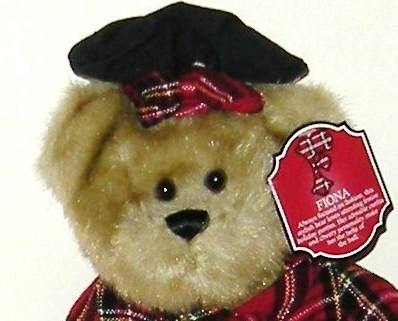 1/2 Price! Regis Corporation FIONA Holiday Fashion Red Plaid Plush Bear