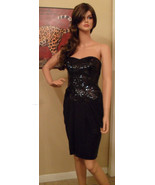 NWT BETSEY JOHNSON Sweetheart Black Strapless Dress Size 4 NEW (MAKE AN ... - $208.49