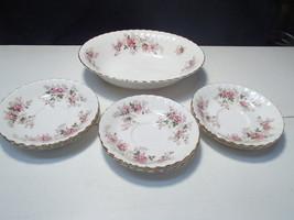 7 Piece Set Royal Albert Lavender Rose~~Oval Bowl & Saucers - $29.95