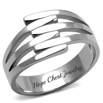 WOMEN'S SILVER TONE STAINLESS STEEL NEVER FADE FASHION RING SIZE 5 - 10 - $11.69
