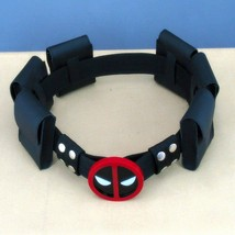 HOT Dead Pool BELT BUCKLE and BELT with 6 Belt Pouches Christmas Cosplay... - $34.65