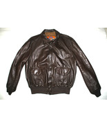 US AIR FORCE COOPER FLYERS MEN'S LEATHER BOMBER TYPE A-2 JACKET - SIZE 44L - $202.95