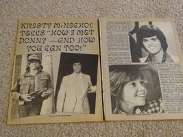Kristy Mcnichol Donny Osmond teen magazine pinup clipping love Donny Osmone Bop