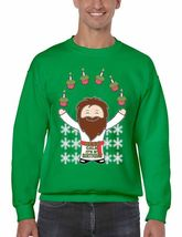 Keep Clam It's My Birthday Men's Crewneck Sweatshirt Ugly Christmas Sweater - $23.00
