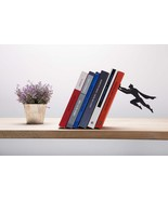 Book Hero Bookend Funky Design Superhero Black Metal Superman Batmen Ori... - $45.00