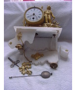 Ansonia clock, New York, IN PIECES, please see pictures,for parts - $150.00