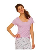 Charter Club Short Sleeve Henley Top, Orchid, XS - $17.58