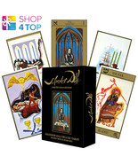 SALVADOR DALI DELUXE TAROT GILDED CARDS DECK BOOK SET GOLD US GAMES SYST... - $108.63