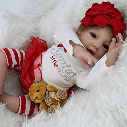 """22""""Silicone Reborn Baby Alive Girl Doll Little Helper Look"""