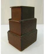 UNSUAL AMERICAN FOLK TRAMP PRISON ART 3 TIER TRINKET BOX CIRCA 1890-1900 - $485.00