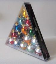 Kurt Sadler Pool Table Balls Christmas Tree Holiday Ornaments - $18.00