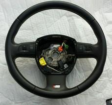 07-08 Audi S6 A6 Quattro Steering Wheel Black OEM 4F0-419-091-AF-VMJ - $177.43