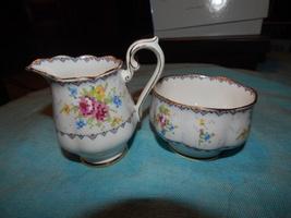 Petit Point Royal Albert Creamer Sugar Bowl bone China England Free ship... - $32.99