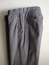 Banana Republic Pants 34 x 29 Gray Plaid Classic Fit Flat Front Trousers Mens - $54.99