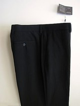 Alan Flusser Pants 36 X 30 Golf Black Flat Front Mens Trousers NWT New Tags - $44.99
