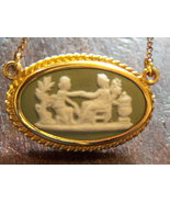 Wedgwood Necklace jewelry. Pre Owned GF Small Green Cameo Necklace. - $20.00