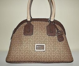 NEW GUESS WOMEN'S TRUTHFULNESS DOME SATCHEL HANDBAG BROWN - $98.95