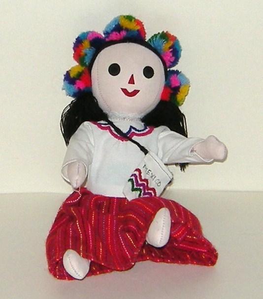1/2 off! Mexico Handmade Colorful Stuffed Doll Girl Senorita Mexican