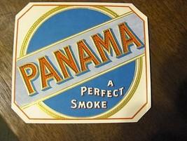 vintage 1920s PANAMA cigar box label - $14.99