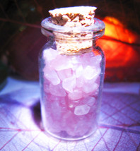 Haunted CREATE YOUR OWN MAGICKAL SEXY BEAUTY ROSE QUARTZ CRYSTALS VIAL Cassia4  - $25.00