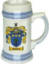 Azzurro Coat of Arms Stein / Family Crest Tankard Mug - $21.99