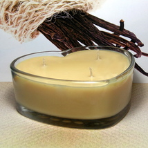 Vanilla Bean PURE SOY Heart Container Candle - $12.50