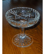 Vintage Beyer Crystal Hand Cut Pedestal Bowl from Germany  - $29.99