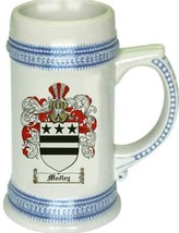 Medley Coat of Arms Stein / Family Crest Tankard Mug - $21.99