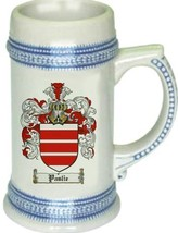 Paslie Coat of Arms Stein / Family Crest Tankard Mug - $21.99