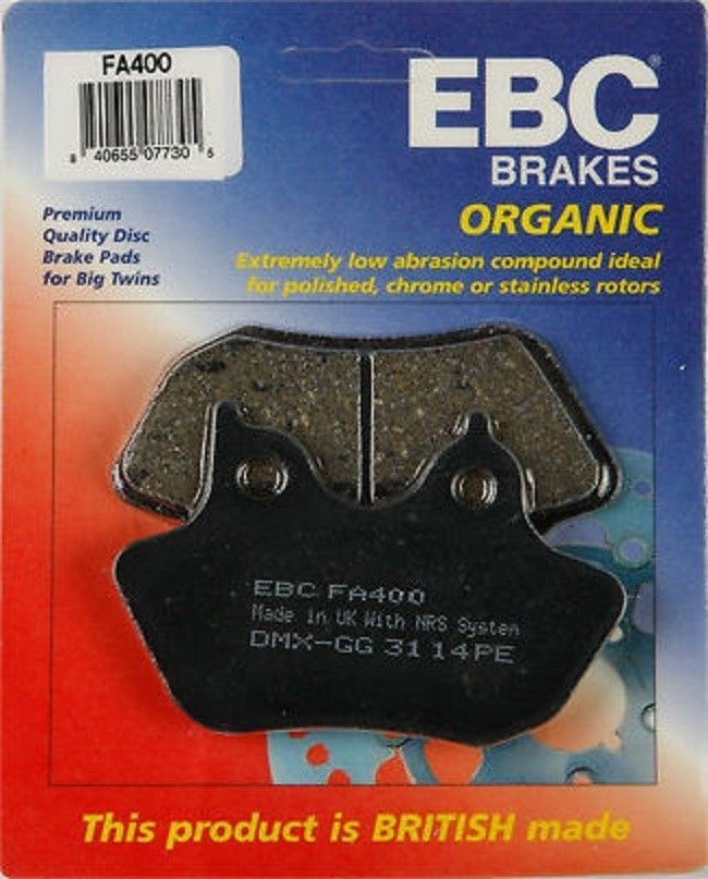 New EBC FA400 High Performance Organic Fiber non Abrasive Brake Pads