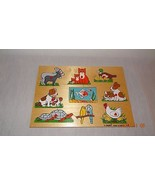 Wooden Peg Puzzle Children Made in Holland Animals - $19.88