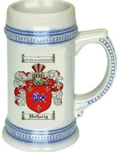 Hetherig Coat of Arms Stein / Family Crest Tankard Mug - $21.99