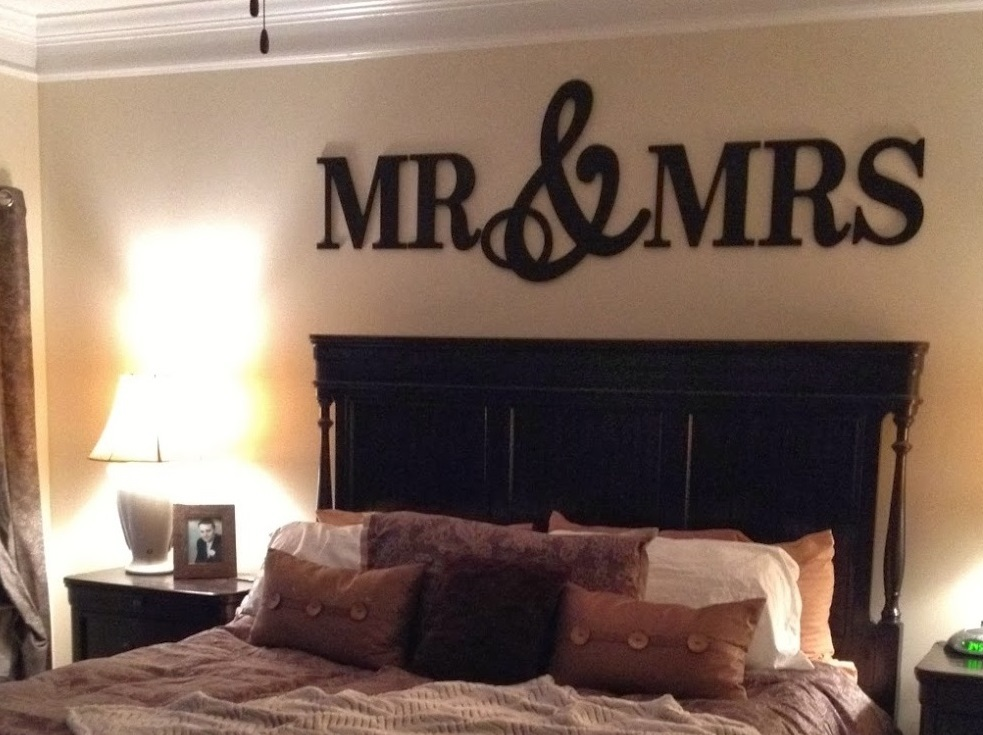 MR & MRS Wall Decor,Wood Letters-King Size
