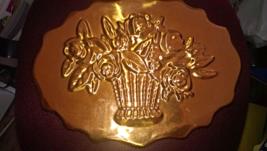 Vintage Copper Flower Bouquet Mold image 1