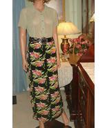 Vintage 80's Susina Black/Pink/Green/Orange/Off White Floral Maxi Skirt ... - €8,36 EUR