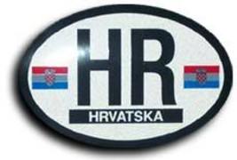 Croatia oval decal 3845 thumb200