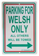 "Wales - 12"" x 18"" Plastic Parking Sign - $7.14"