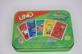 SpongeBob Squarepants UNO Special Edition Card Game Green Tin No Instruc... - $12.86