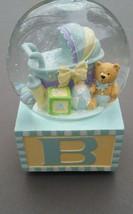 Baby Alphabet Block Bear Music Box Snow Globe W... - $46.53
