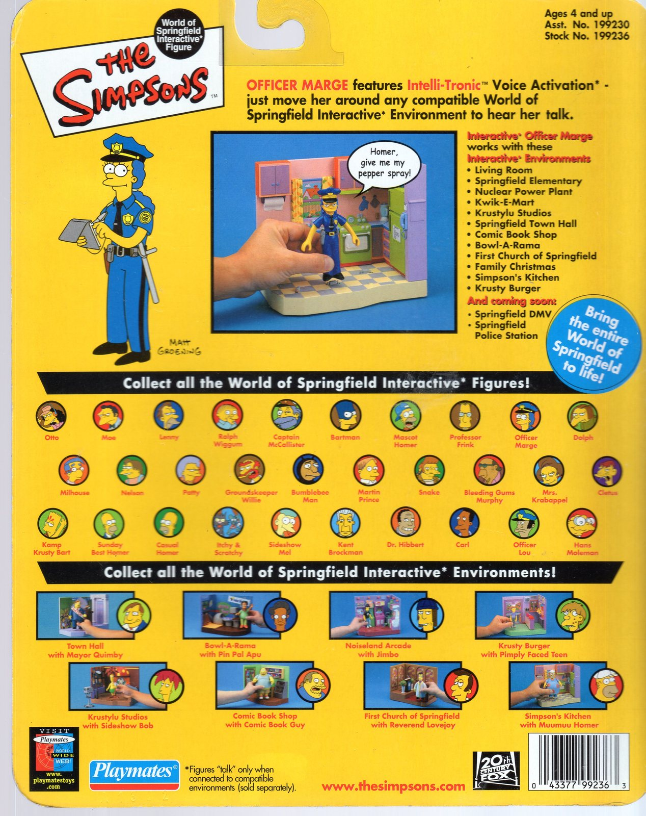 Simpson's Series 7 - Marge The Cop From Playmate image 2