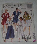 McCalls Sewing Pattern 5306 Womens Jacket Split Skirt Size A - NEW Uncut - $7.91
