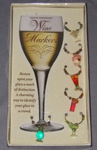 Boston Warehouse Wine Glass Markers Charms Mart... - $12.86