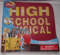 Disney High School Musical 2 CD Board Game w Carrying Case Cardinal Game... - $15.83