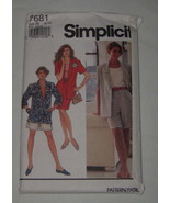 Simplicity Sewing Pattern 7681 Misses Jacket Shorts Skirt  Size H - NEW ... - $7.91